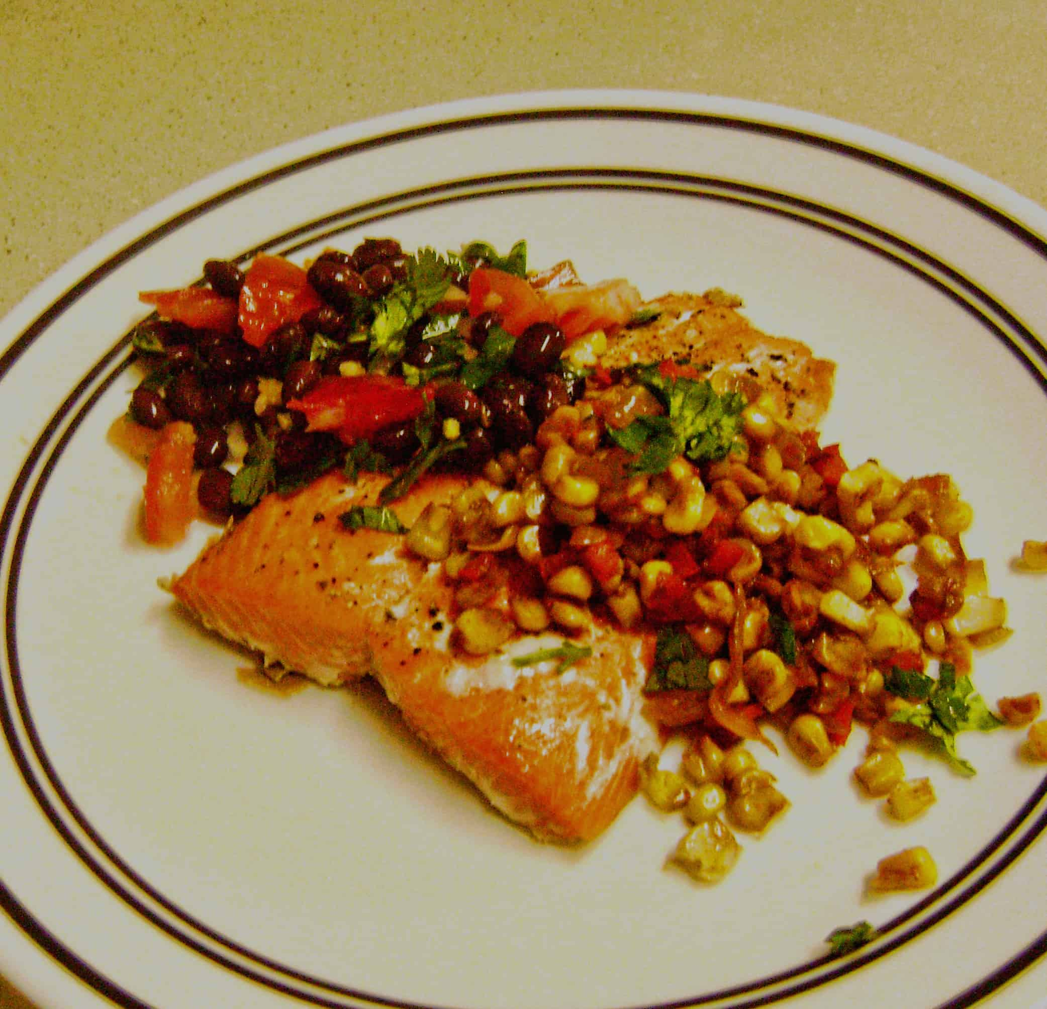 Baked Mexican Salmon