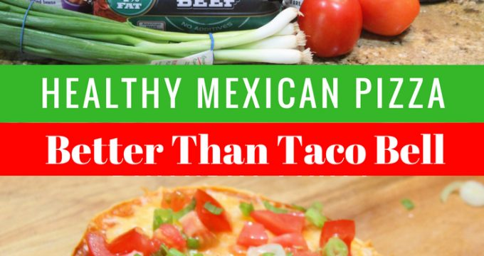 30 minutes or less for a Healthy Mexican Pizza !!!!