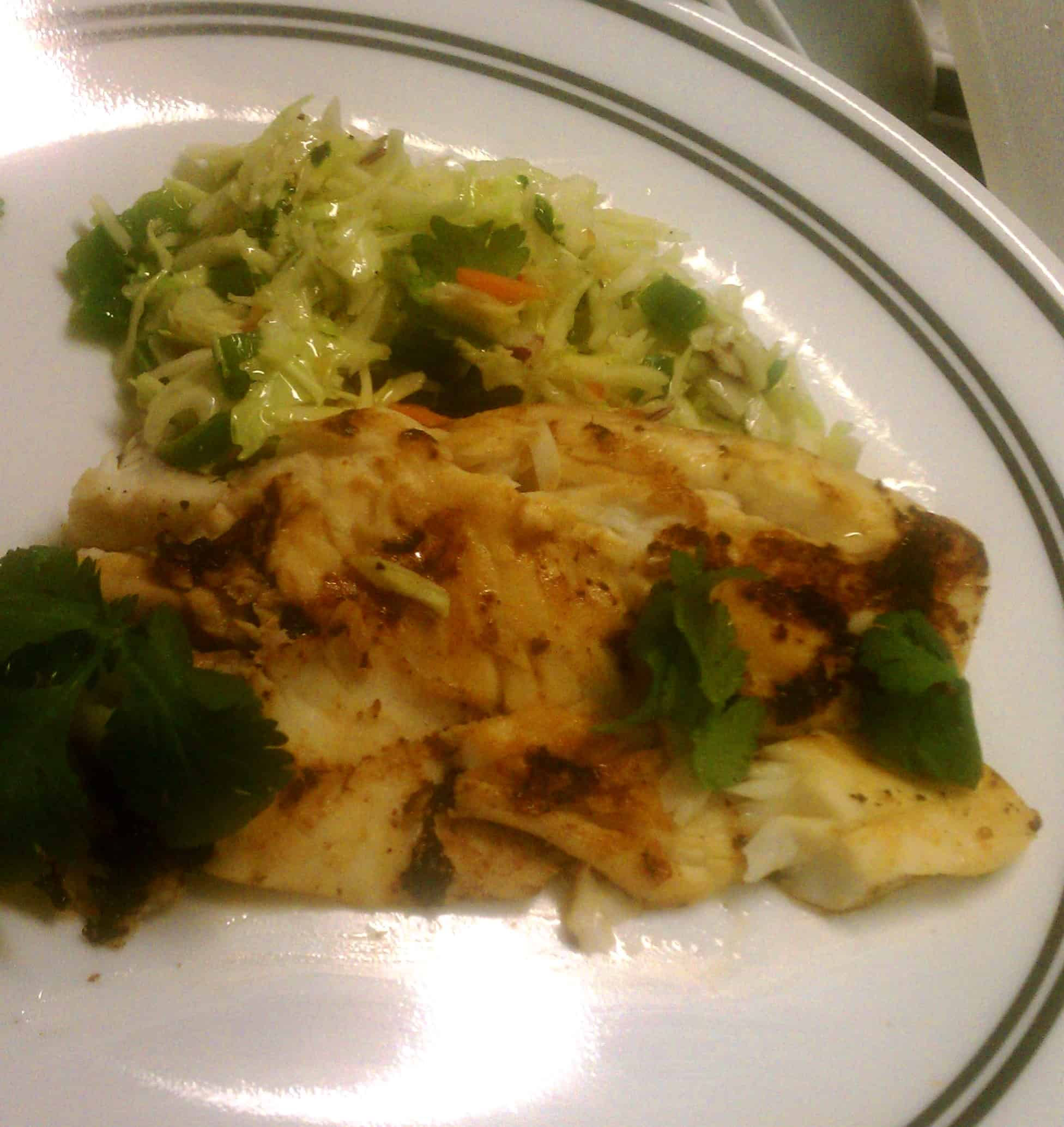 Grilled Tilapia with Jalapeno Slaw